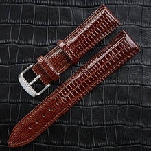 LPWHH Bright Genuine Leather Watchband 18mm 20mm 22mm 24mm 16 14 12mm Pin Buckle Red Black Blue Brown Bracelet Watch Bands все цены