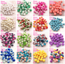NEW 30pcs 12mm Multi-colored Bayberry Beads Imitation Pearl Round Loose For Jewelry Making DIY Accessories