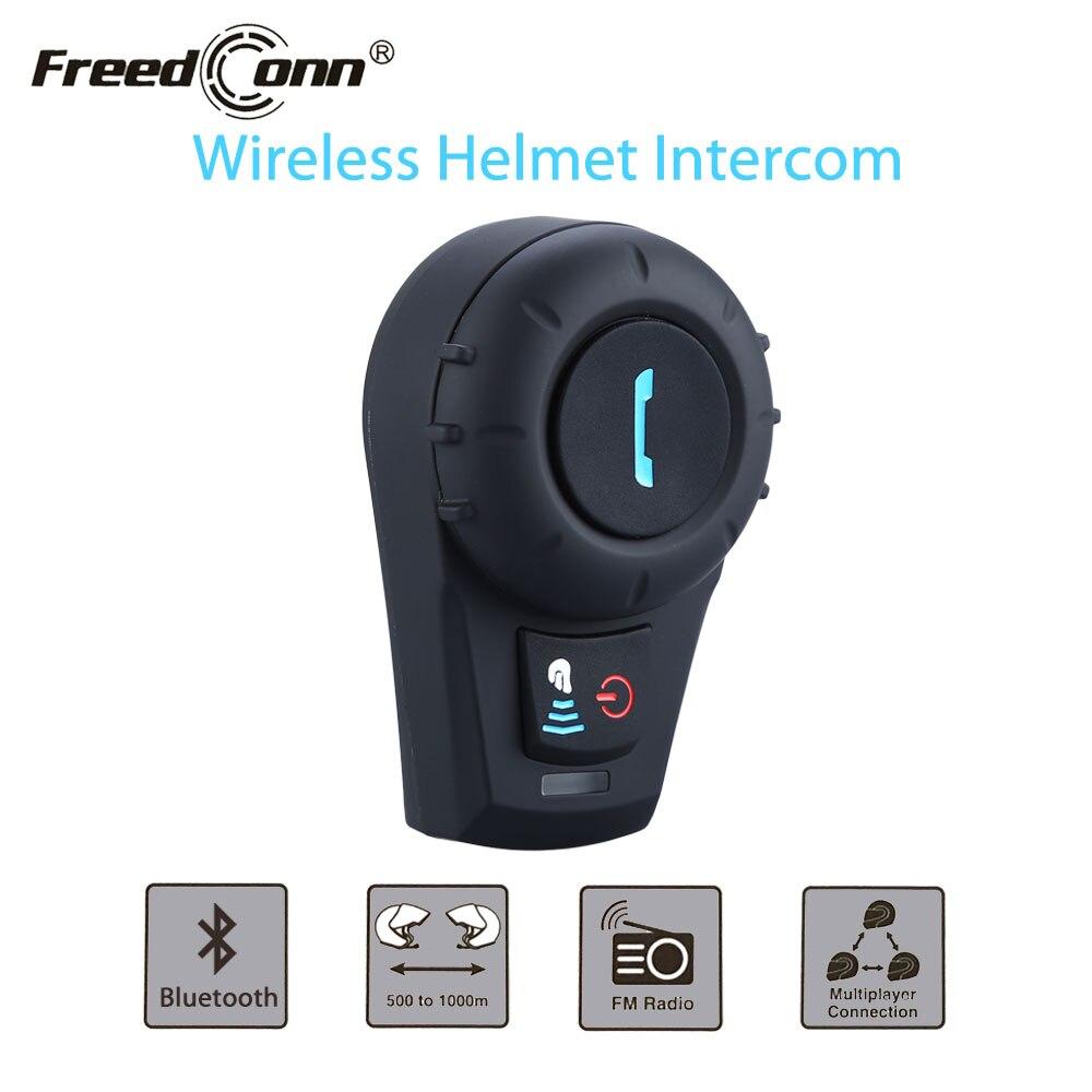 FreedCon FDCVB Moto Casque Casque 500 m BT Bluetooth Interphone Casque Casque Intercom + Écouteur Libre + Support FM Radio