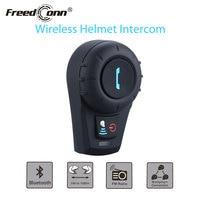 FreedCon FDCVB Motorcycle Helmet Headset 500M BT Bluetooth Interphone Headset Helmet Intercom+Free Earpiece+Bracket FM Radio
