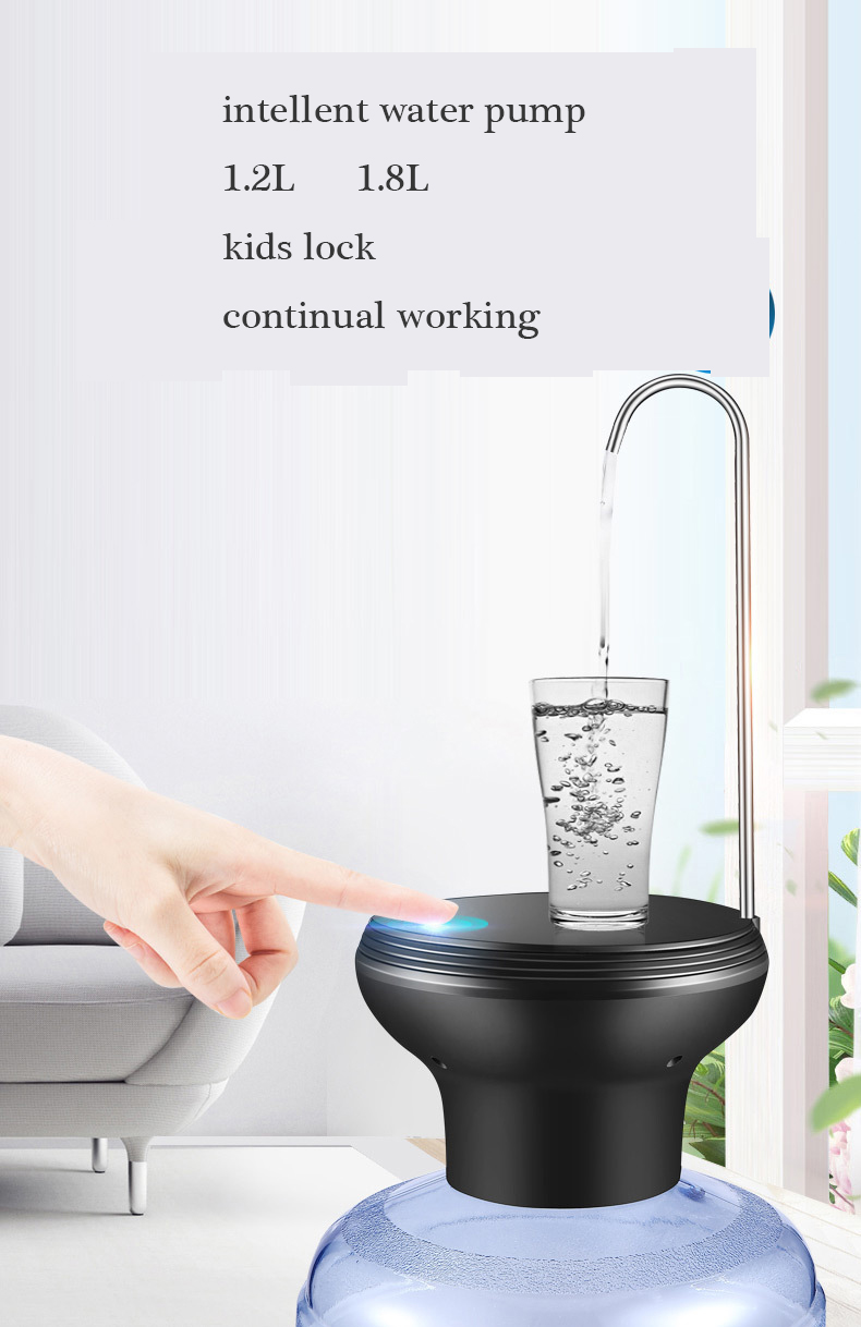 Rechargeable Pallet Water Pump Pure Buckets Electric Water Dispenser with Long Stainless Steel Line Automatic Water Heater stainless steel water heater 10 liters shanghai set up