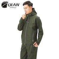 QIAN Impermeable Men's Raincoat Multi functional Breathable Business Rain Coat Waterproof Casual Working Jacket Sports Rain Gear