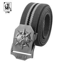 LFMB 2016 Men S Belt Universal Pure Alloy Plate Buckle Canvas Belt Outdoor Leisure Woven