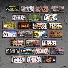 США Количество лицензии автомобиль лицензии металлическая пластина с винтажным рисунком Home Decor Олово Знаки бар паб кафе Декор металл гаражный знак дощечки с рисунком Лидер продаж