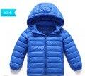 Jaqueta de inverno Crianças Down Jacket Para O Menino Roupas de Bebê Para Baixo Casaco de Inverno Quente Snowsuit Bebê Da Menina Das Crianças Com Capuz Casaco Curto