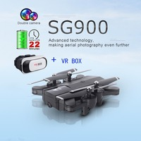 SG900 Dron Dual Camera RC Drone HD Camera Drone Foldable Gesture Control Drone, long flight time VS GW58 KY101S X192 For Gift