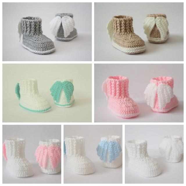 Botines del ganchillo del bebé, zapatos del ganchillo del bebé ...
