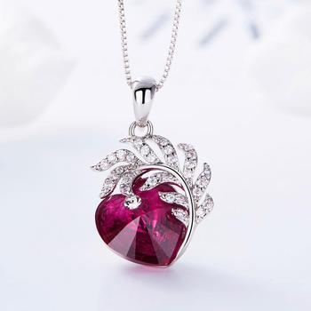 Embellished crystal Heart Necklace  2