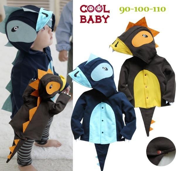b01d3ccb2 Retail Children s boys girls animal coat baby dinosaur jacket kids ...