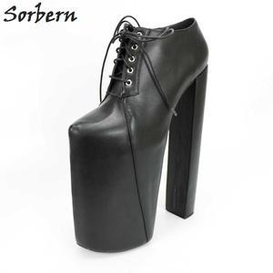 f0d455b520e1 Sorbern High Heel Platforms Square 41 Women Shoes 2018