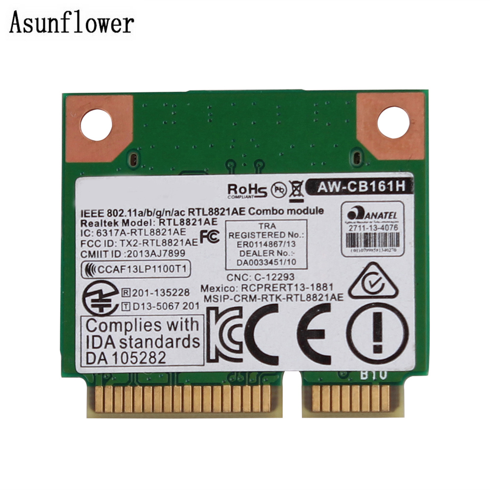 Pour Azurewave AW-CB161H 802.11a/b/g/n/ac WiFi + BT 4.0 RTL8821AE 2.4/5.0 GHz