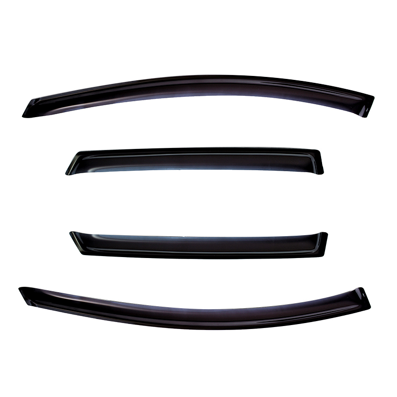 Window Deflectors for 4 door NISSAN PATROL 2010-/INFINITI QX56 2010-2013/INFINITI QX80 2013- original view window flip pu leather case cover for uhappy up920