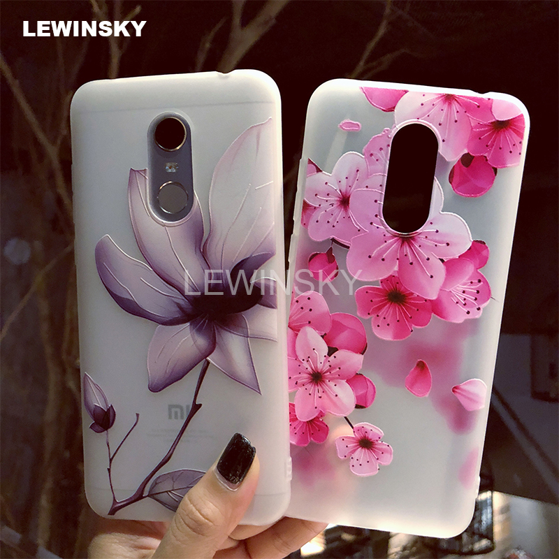 3D Relief Flower TPU Phone Case On for Xiaomi Redmi Note 4 4X 5 6 Pro 5A Prime 4A 5 Plus S2 6A Mi 6 8 Mix 2 2s A1 6X Note 3 Case