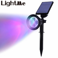 2016 New Hot Selling High Quality 4 LEDs RGB Light 200 Lumen Rechargeable Solar Powered Spotlight