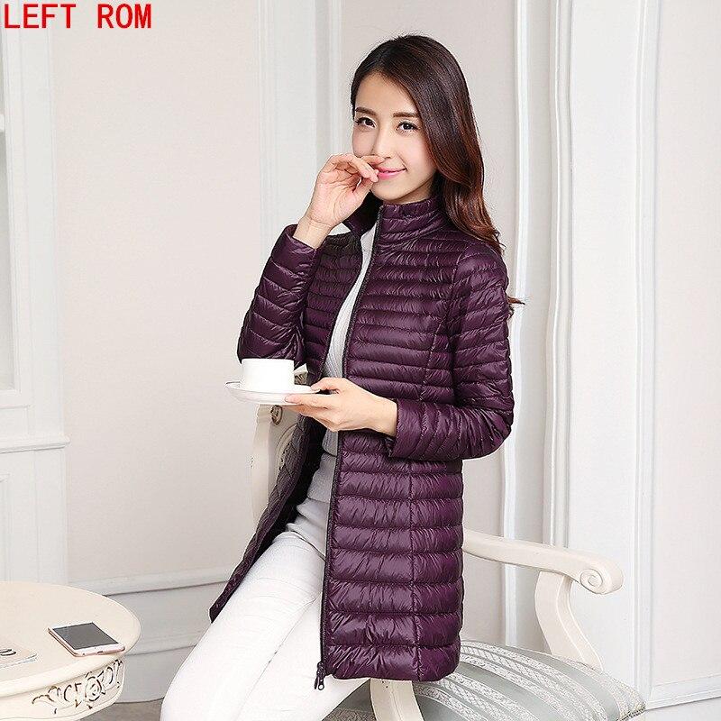 Модная зимняя куртка-пуховик Для женщин 90% Подпушка пальто сверхлегкие длинная парка элегантная верхняя одежда с капюшоном Дамы Верхняя