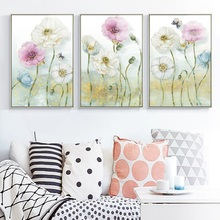 Modern Flower Plaque Poster Flower Print Print Canvas Painting Picture Home Bedroom Wall Art Decoration Can Be Customized цена