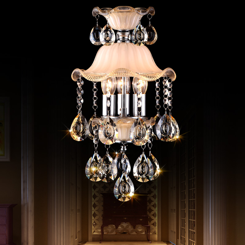 Small crystal Pendant Lights European style crystal lamp high-end luxury restaurant aisle lamp porch lamp entrance LU80494 tiffany the restaurant in front of the hotel pendant lights cafe bar small aisle entrance hall creative pendant lamp za df7 lo10