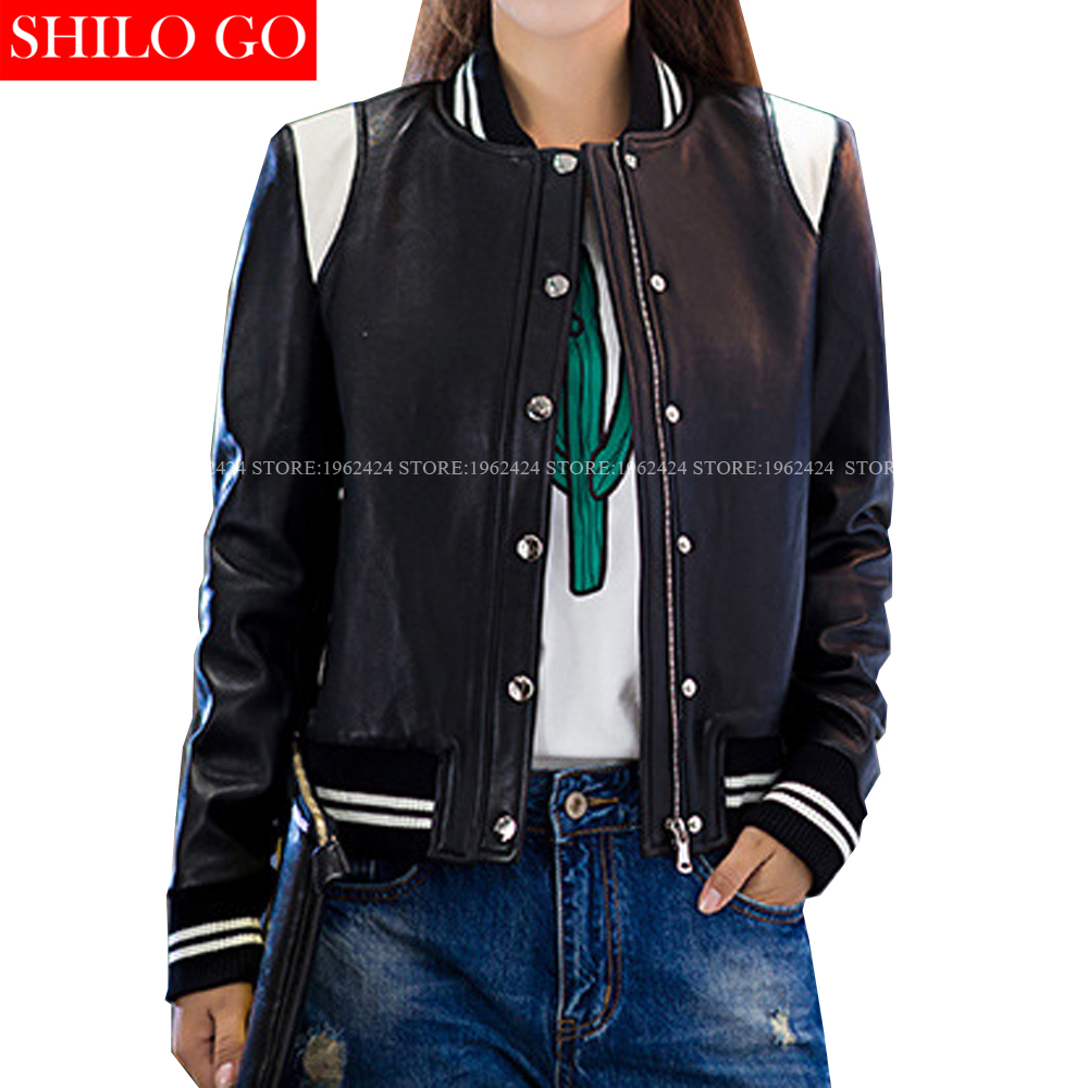Popular Ladies Short Leather Jacket-Buy Cheap Ladies Short Leather ...