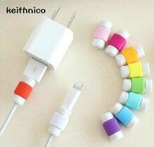 10 шт. USB Зарядное Жильный Кабель Защитная Крышка Наушники Линия Данных Втулка Для Защиты Кабеля Кабельные Winder Для iPhone H113
