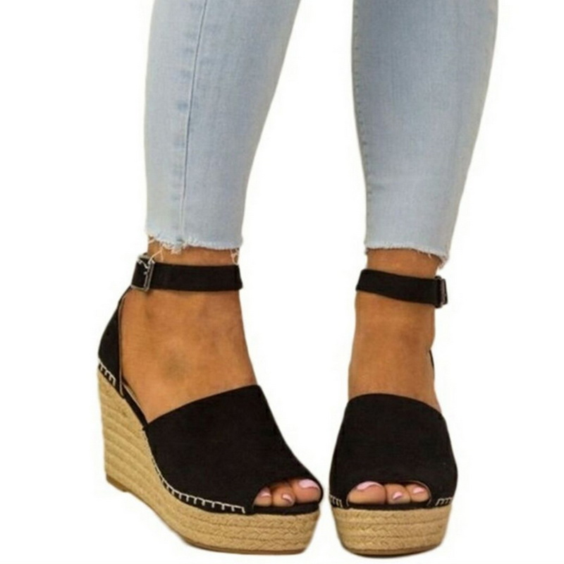 77e22bd259a Dropwow Laamei Platform Sandals Wedges Shoes For Women Heels ...