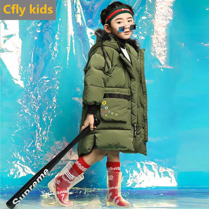 children's winter Jacket duck down jacket for girls boys winter down outwear hooded parka for girls kids winter coat snowsuit children winter jacket duck down long thicker boys girls snowsuit hooded coat kids winter down jacket child clothing 12 years