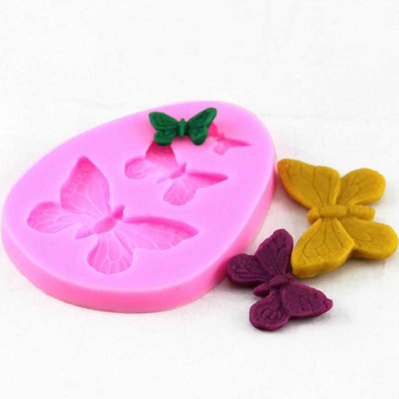 3 Série borboleta Em Forma Sugarcraft Fondant de Chocolate Molde Do Bolo Molde Sabão 3D Para Cookies de Chocolate DIY Decoração Do Bolo Molde de Cozimento