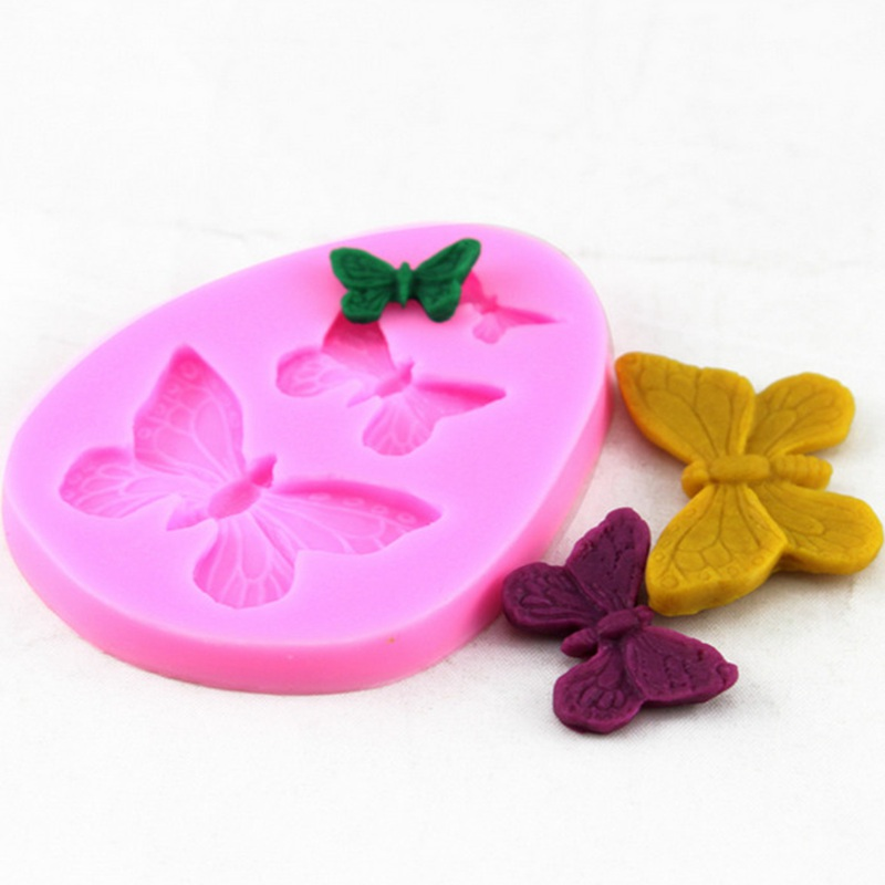 3 Butterfly Series Shaped Sugarcraft Soap Mold 3D Fondant Chocolate Cake Mold For Candy Cookies DIY Cake Decorating Baking Mould