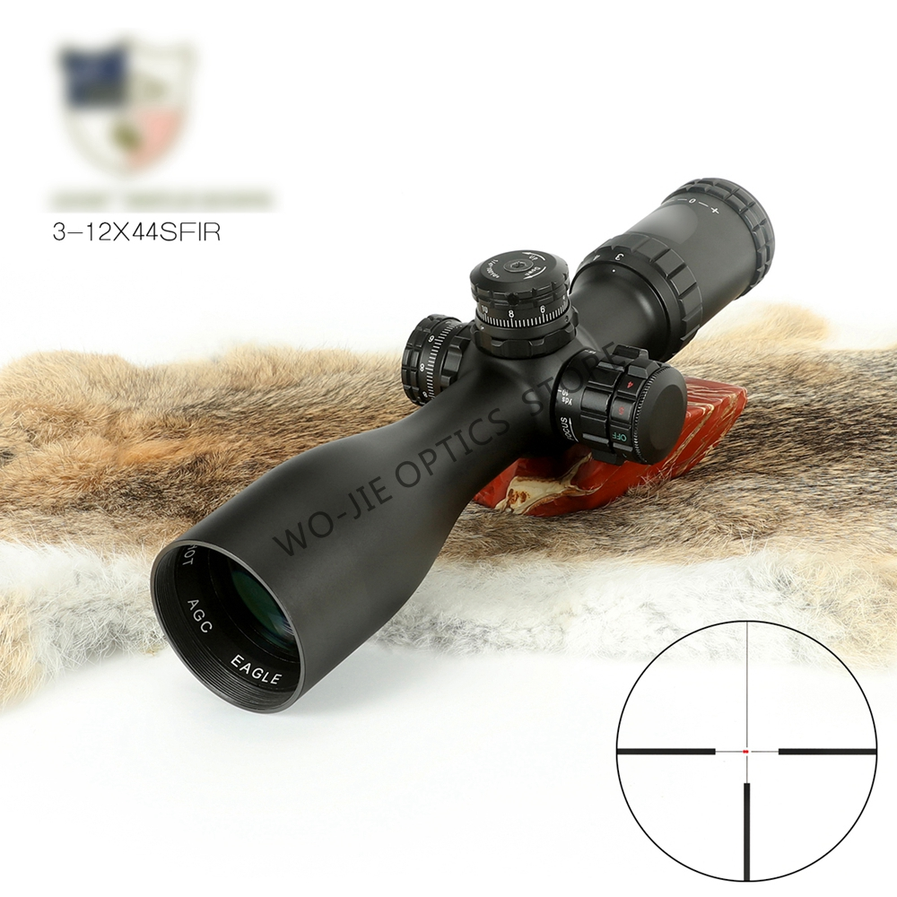 3-9x44 Riflescope Hunting Scope Tactical Sight Glass Reticle Rifle Sight For Sniper Airsoft Gun Hunting