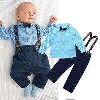 2016 NEW 2PCS Newborn Kids Clothes Set Baby Boys Outfits T Shirt Tops Long Pants Party