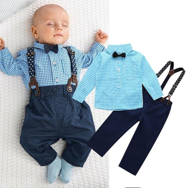 8501533fc45 2017 NEW 2PCS Newborn Kids Clothes Set Baby Boys Outfits T-shirt Tops +  Long Pants Party Baby Boy Clothes Sets