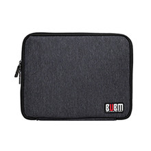 BUBM Nylon Cable Organizer Bag Case Purse Can Put Cables USB Flash Drive Chargers Headsets Black 26*21*2.5CM