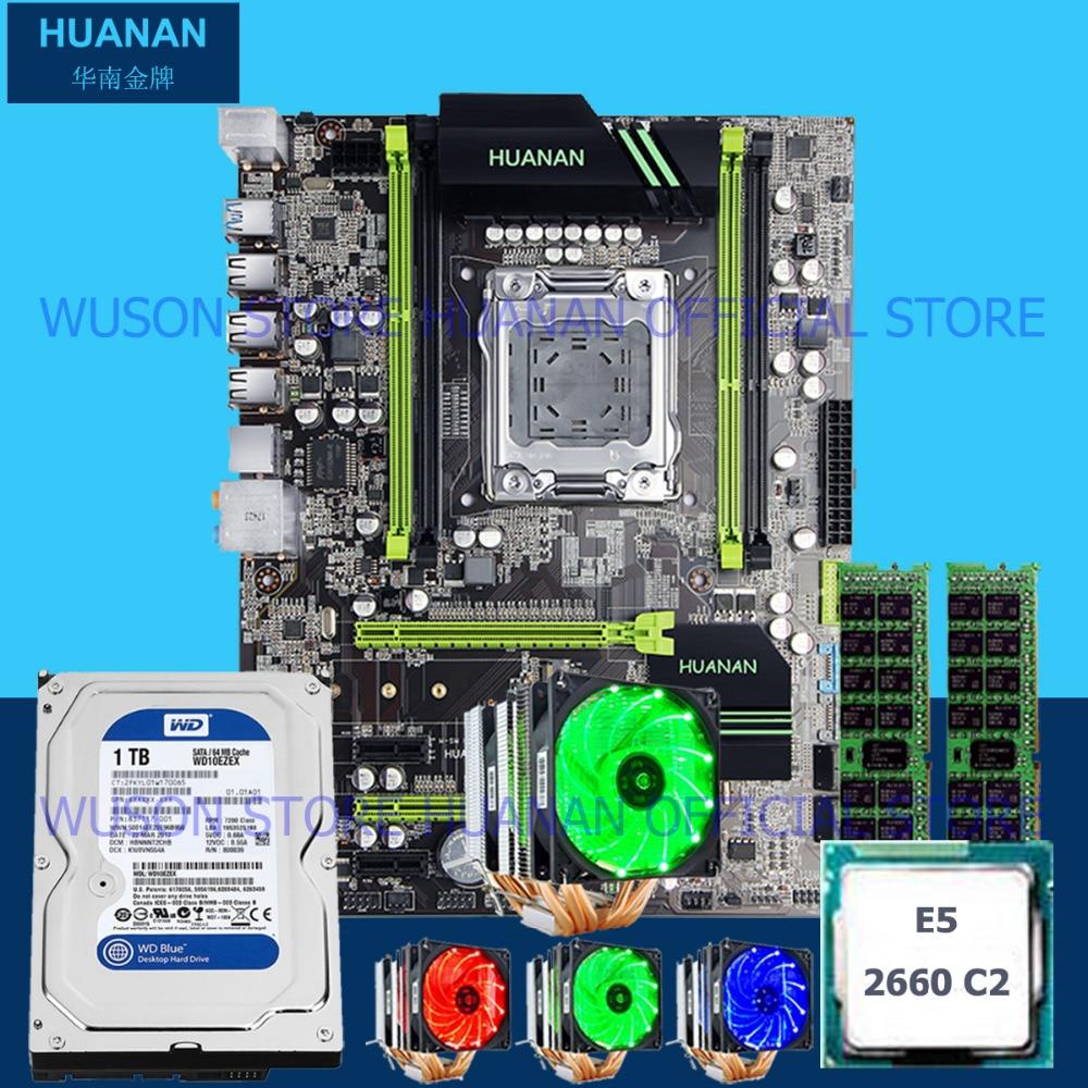где купить HUANAN ZHI X79 motherboard M.2 slot CPU Xeon E5 2660 2.2GHz 6 heatpipes cooler RAM 16G(2*8G) DDR3 1600 RECC 1TB 3.5' SATA HDD дешево