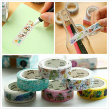Cartoon paper tape Japanese Washi sticky note Masking DIY Stationery School photo album Scrapbooking gift box letter decor craft(China)