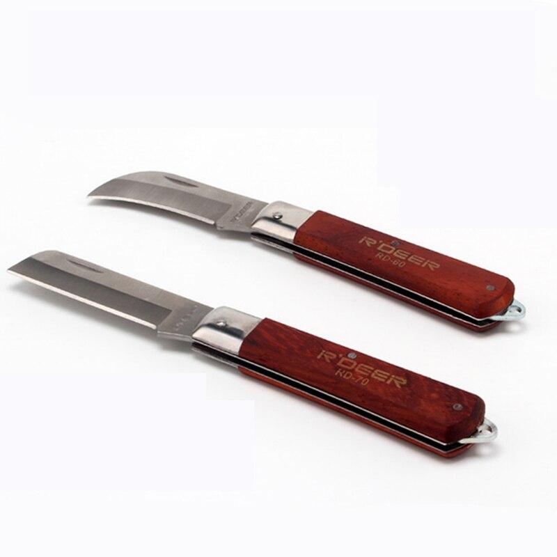 Utility Faltendes Messer Holzgriff Überlebensmesser Jagdmesser Camping Werkzeuge Navajas Canivetes