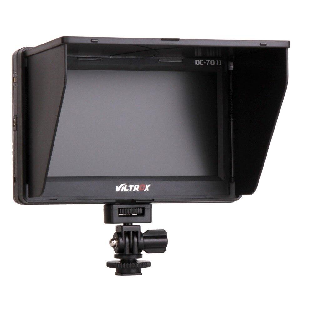 2017 VILTROX TFT 1024*600 HDMI in/out 7 ''pouces moniteur LCD pour Canon Nikon Sony Panasonic DSLR appareils photo Viltrox DC-70 DC-70II