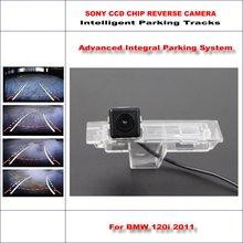 цена на HD CCD SONY Rear Camera For BMW 120i 2011 Intelligent Parking Tracks Reverse Backup / NTSC RCA AUX 580 TV Lines