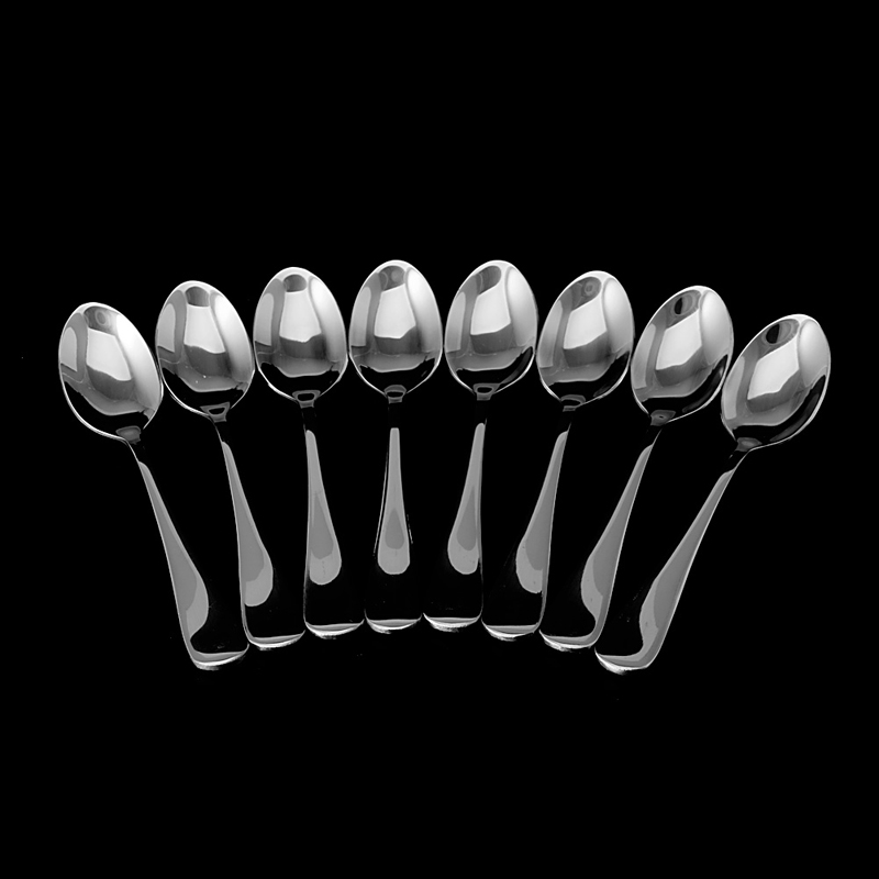 8Pcs/Set Demitasse Espresso Stainless Steel Spoon Tea Coffee Soup Rice