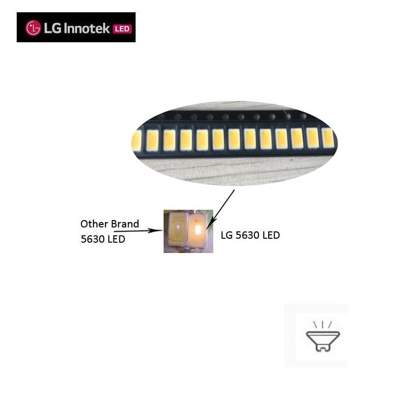 Original LG 5630SMD LED CRI>80 Max Current 200ma 3V 2700K 4000K Application For Tube Downlight Ambient Troffer