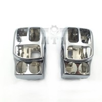 Aftermarket Free Shipping Motorcycle Parts CHROME Switch Housing Cover Kit For Aftermarket OEM 71500185 Road King