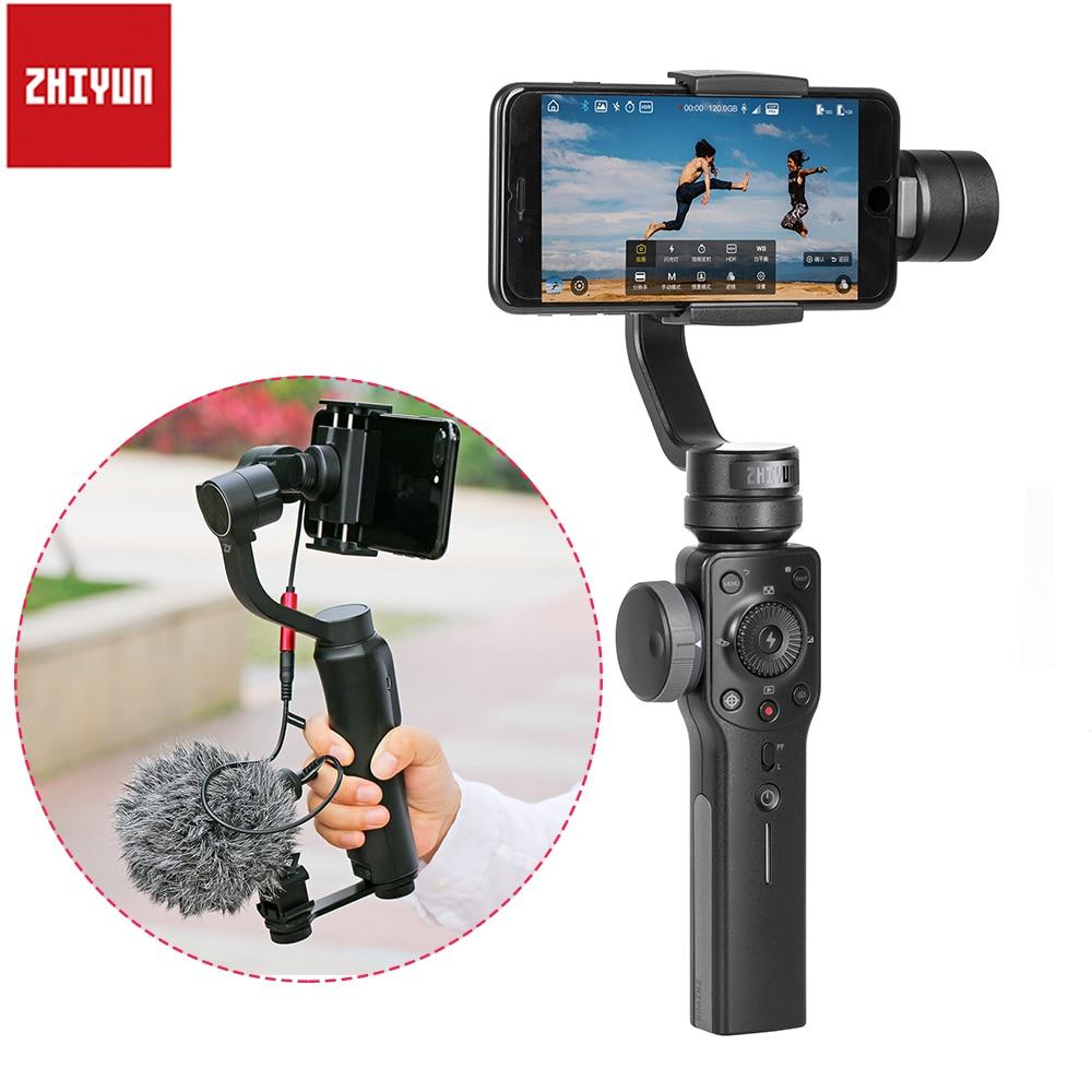 Zhiyun Liscia 4 Handheld Gimbal Stabilizzatore Inseguimento di Oggetto di Messa A Fuoco Pull per iPhone X 8 Samsung Gopro 6 SJCAM PK DJI osmo mobile 2