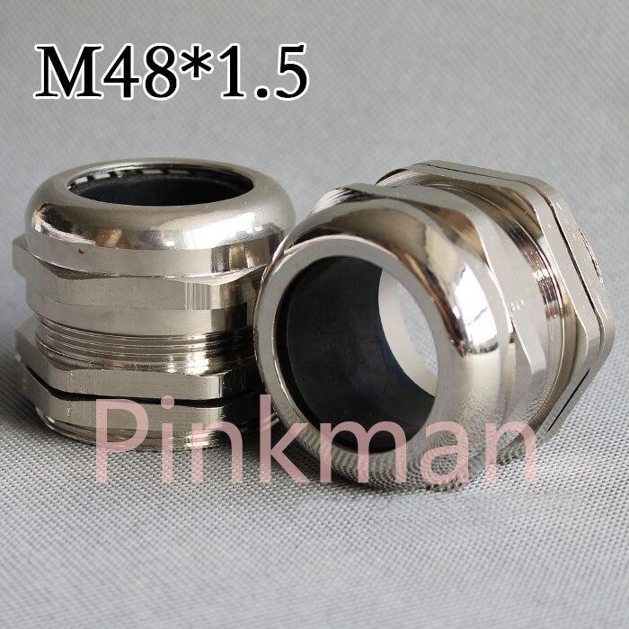 1 шт метрическая система м48*1.5 304 Нержавеющая сталь Кабельные вводы применяются для кабель 25-33мм