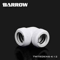 Barrow TWT90KNS-K12 TWT90KNS-K14 90 grados doble mano giro para tubo duro OD12/OD14mm enfriador de agua adaptador
