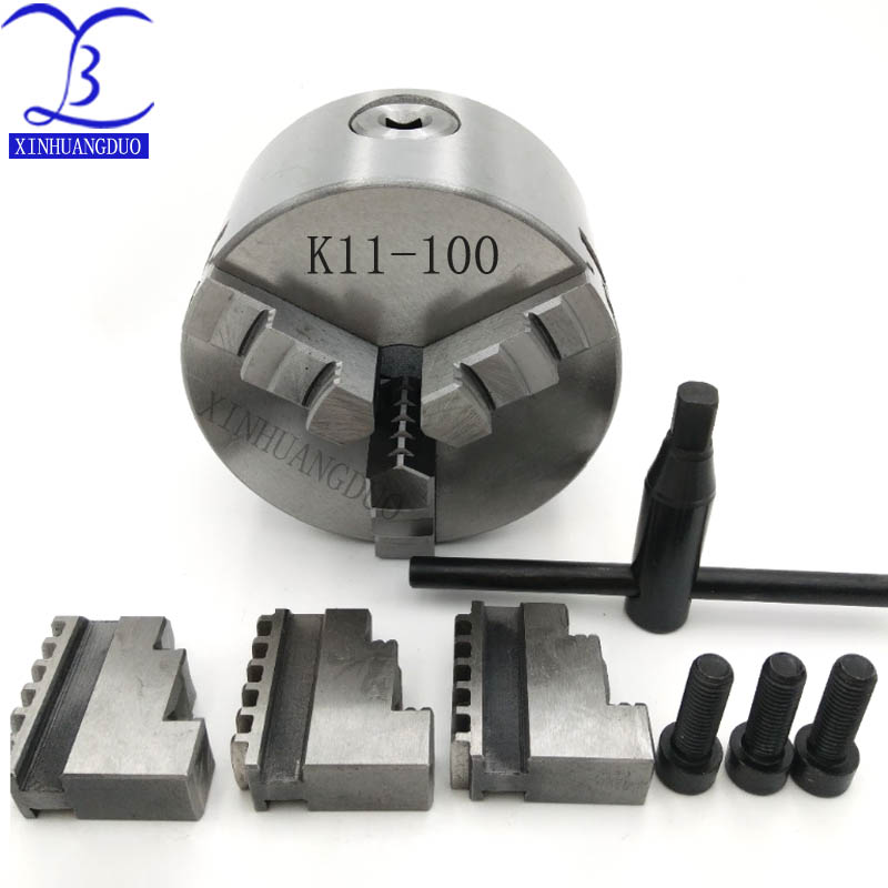 K11-100 Metal Lathe Chuck 3 Jaw 100mm Self Centering /& Reversible Jaw CNC US^
