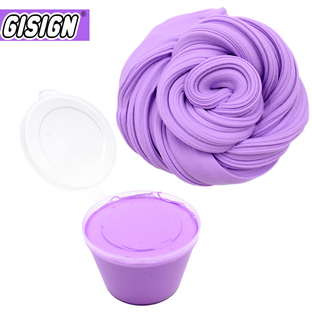 80ml Air Dry Plasticine Fluffy Slime Polymer Clay Supplies Super Light Soft Cotton Charms for Slime Kit Lizun Antistress Toys(China)