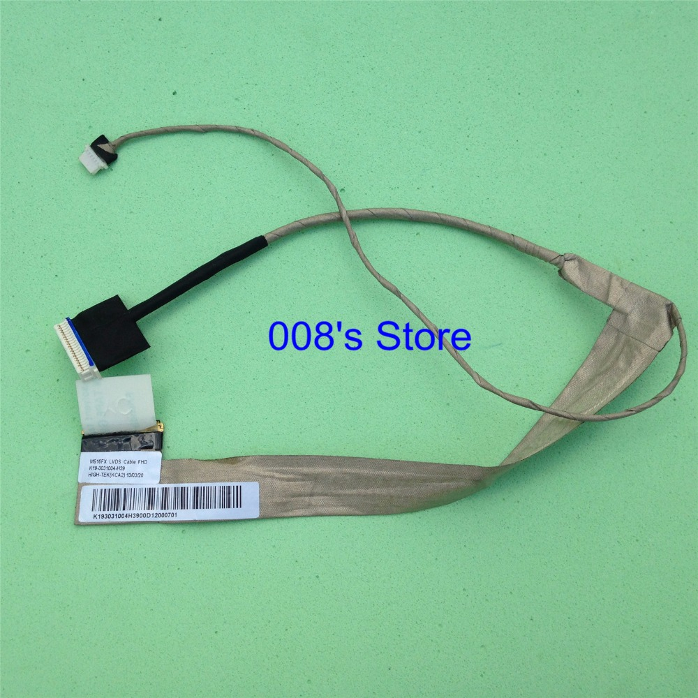 New LCD Screen LVDS Cable FHD For MSI MS16FX MS16F1 MS16F2 MS16F3 GT60 GT660 GT660ST GX60 GX660 MS-16F1 PN K19-3031004-H39 500 knitting pattern world of xiao lai qian zhi