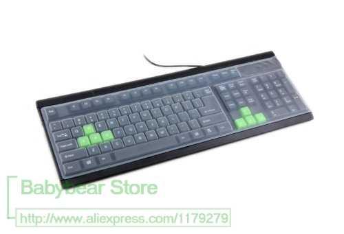 Funda protectora Universal de silicona para teclado de escritorio de tamaño completo estándar de 101 teclas 19 21 23 24 27 pulgadas