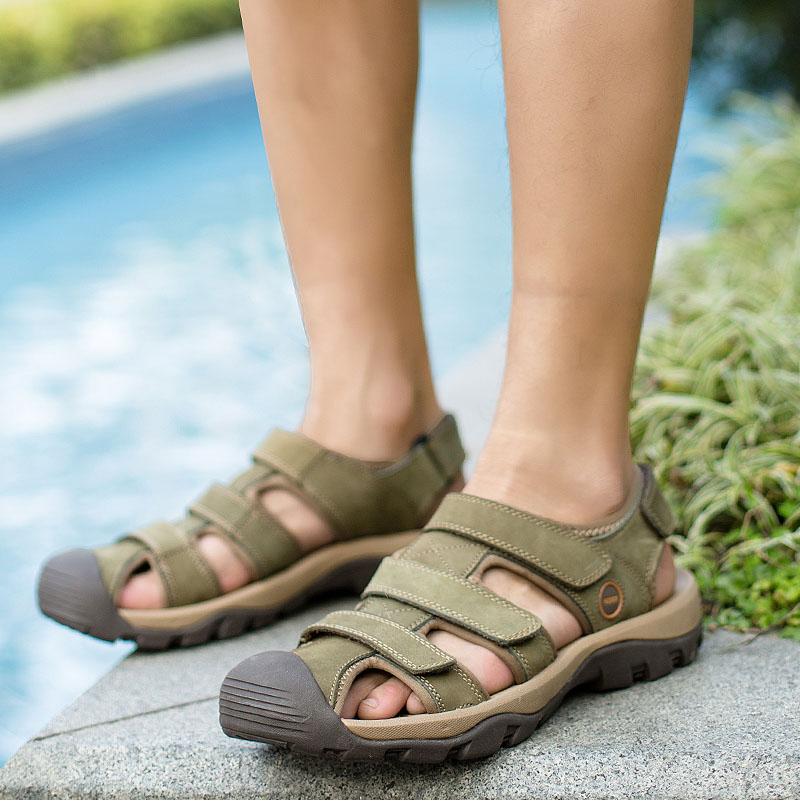 7bae5bf2d1761 ... Genuine Brand Sandals Sole Summer Beach Men Fashion Thick ... 2018  Heels High Ankle Toe Sandals Dress 43 Strap Sandals Summer ESRFIYFE New   Product ...