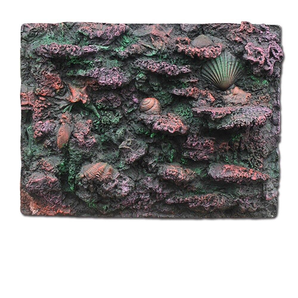 Fond 3D fond marin océan roche motif pet Gecko poisson tortue grenouille Vivarium Terrarium Aquarium réservoir de poissons décoration/pas poster