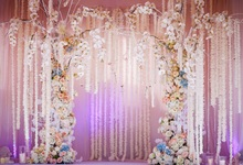 Laeacco Wedding Stage Backdrop Blossom Flower Tassel Wreath Candle Curtain Child Portrait Backgrounds Photocall Photo Studio