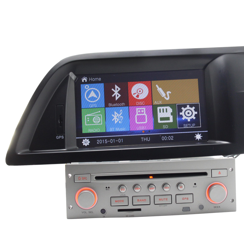 High Quality 7 Touch Screen Car DVD Player For Citroen C5 GPS Multimedia Ipod Stree Wheel
